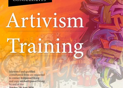 Consultancy Term of Refrence for Artivism Training