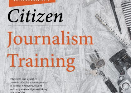 Consultancy Term of Reference for Citizen Journalism Training