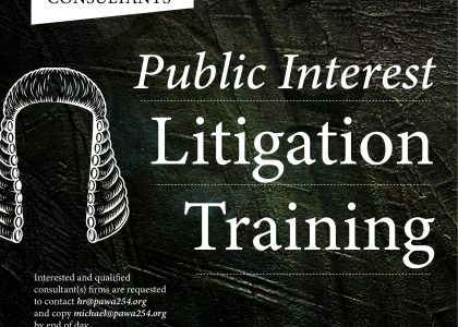 Consultancy Term of Reference for Public Interest Litigation Training