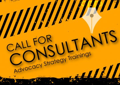 Consultancy Term of Reference for Advocacy Strategy Training.
