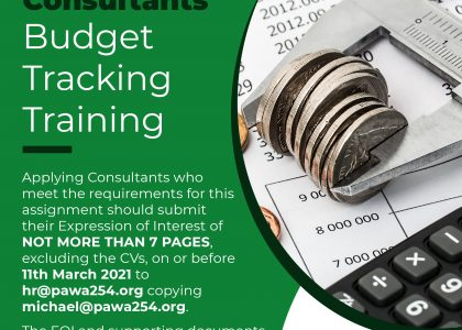 Call For Consultancy Services For Conducting Budget Tracking Training