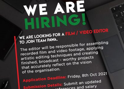 Call For Application – EDITOR